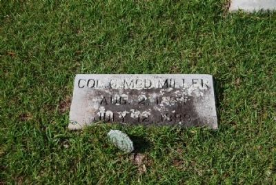 Col. George M. Miller Tombstone<br>Due West Presbyterian Church Cemetery image. Click for full size.