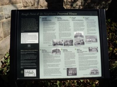 Rough Point & Its Neighbors: Preserved Houses Marker image. Click for full size.