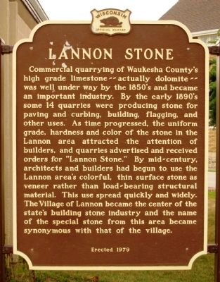 Lannon Stone Marker image. Click for full size.