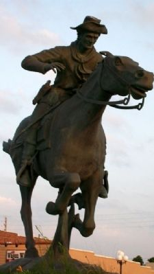 Pony Express Rider Statue image. Click for full size.