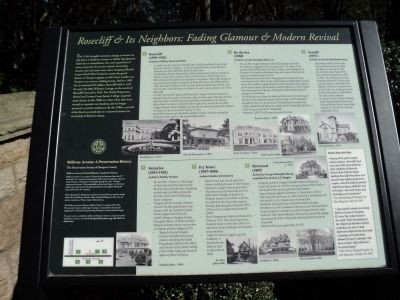 Rosecliff & Its Neighbors: Fading Glamour & Modern Revival Marker image. Click for full size.