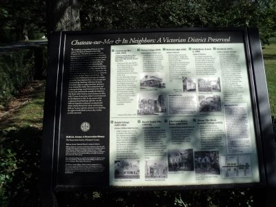 Chateau-sur-Mer & Its Neighbors: A Victorian District Preserved Marker image. Click for full size.