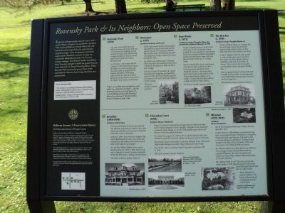 Rovensky Park & Its Neighbors: Open Space Preserved Marker image. Click for full size.