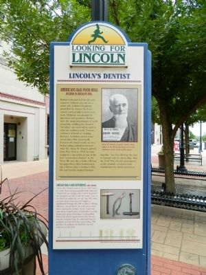 Lincoln's Dentist Marker image. Click for full size.