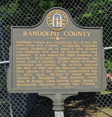 Randolph County Marker image. Click for full size.