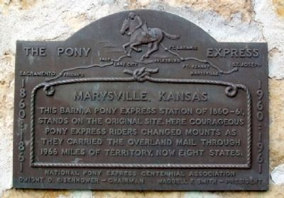 Pony Express Home Station No. 1 Marker image. Click for full size.