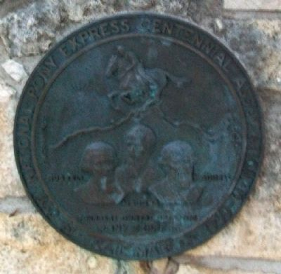 Pony Express Founders Marker Photo, Click for full size