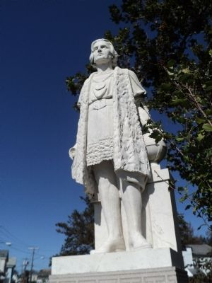 Closeup of Christopher Columbus Statue image. Click for full size.