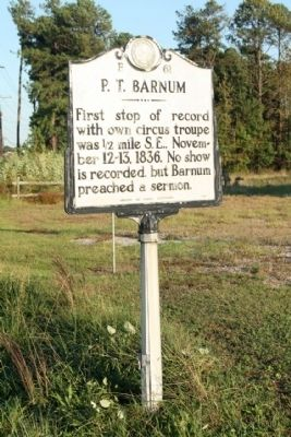 P.T. Barnum Marker image. Click for full size.