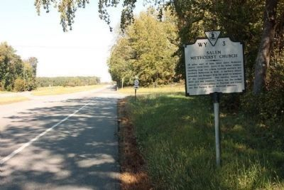 Salem Methodist Church Marker looking north along US 13 near Cobb Station Road Photo, Click for full size