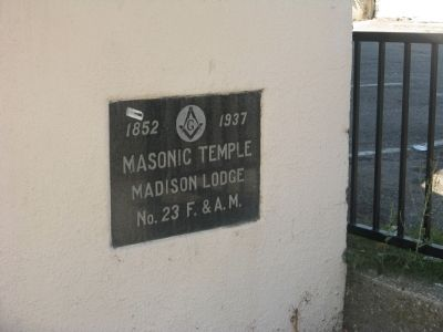 Madison Lodge No. 23 - 1937 Dedication Plaque image. Click for full size.
