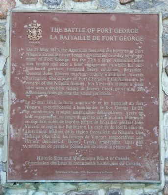 The Battle of Fort George Marker image. Click for full size.