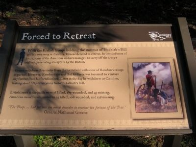 Forced to Retreat Marker image. Click for full size.