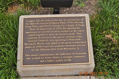 Paducah Gaseous Diffusion Plant Marker image. Click for full size.
