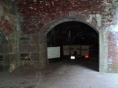 Marker Inside Fort Adams image. Click for full size.