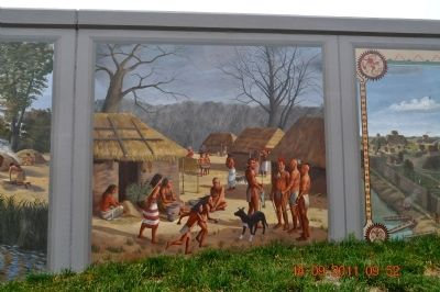 Woodland and Mississippian Indians Marker image. Click for full size.