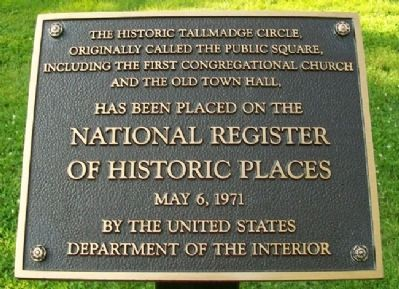 Tallmadge Circle (Public Square) NRHP Marker image. Click for full size.