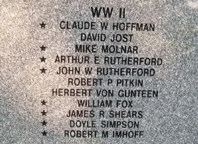 Tallmadge Veterans Memorial Honor Roll image. Click for full size.