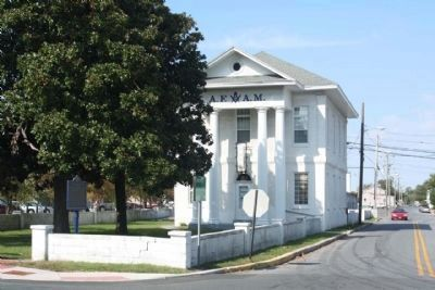 Academy / Masonic Hall and Marker image. Click for full size.