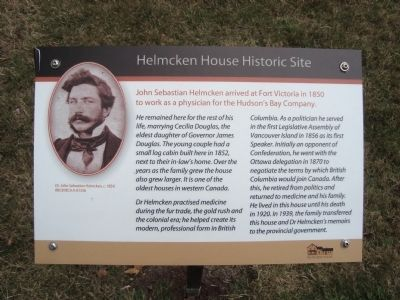 Helmcken House Historic Site Marker image. Click for full size.