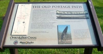 The Old Portage Path Marker Photo, Click for full size