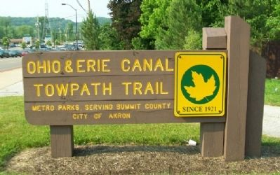 Ohio & Erie Canal Towpath Trail Sign Photo, Click for full size