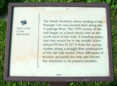 Portage Path North Terminus Marker image. Click for full size.