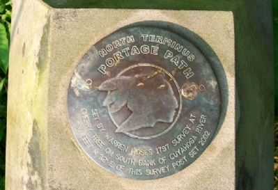 Portage Path North Terminus Survey Marker image. Click for full size.