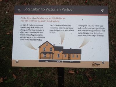 Log Cabin to Victorian Parlour Marker image. Click for full size.