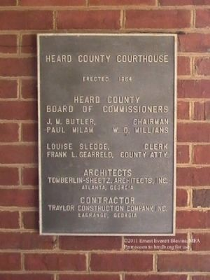 Head County Courthouse Marker image. Click for full size.