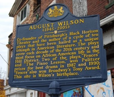 August Wilson Marker image. Click for full size.