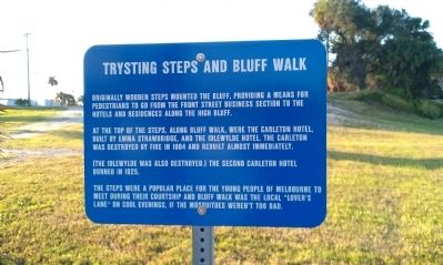 Trysting Steps and Bluff Walk Marker image. Click for full size.