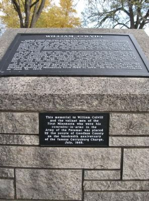 William Colvill Marker and Plaque image. Click for full size.