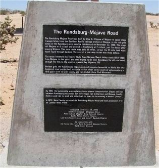 Randsburg - Mojave Road Marker image. Click for full size.