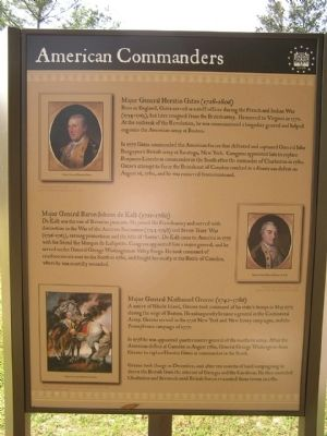 American Commanders Marker image. Click for full size.