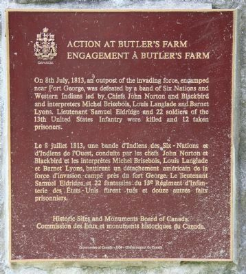 Action at Butler's Farm Marker image. Click for full size.