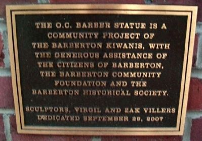 Ohio Columbus Barber Sponsor Marker image. Click for full size.
