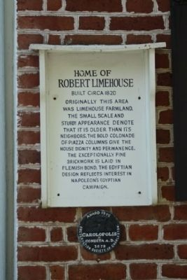 Home of Robert Limehouse Marker Including image. Click for full size.