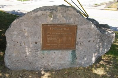 Edwardsville - Home of Five Illinois Governors Marker image. Click for full size.