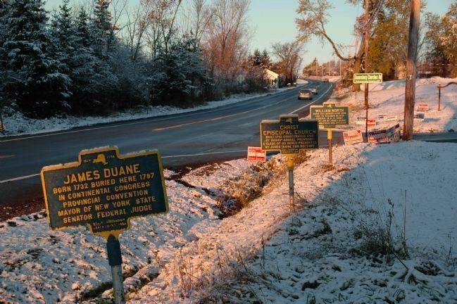 James Duane and Other Markers Along Route 20 in Duanesburg image. Click for full size.