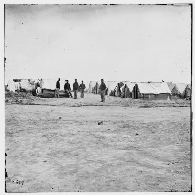 Camp of 10th U.S. Colored Infantry image. Click for full size.