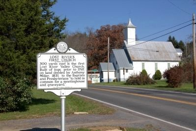 Lost River's First Church Marker image. Click for full size.