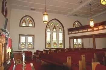 Mount Sinai Baptist Church interior image. Click for full size.
