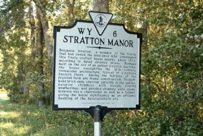 Stratton Manor Marker image. Click for full size.