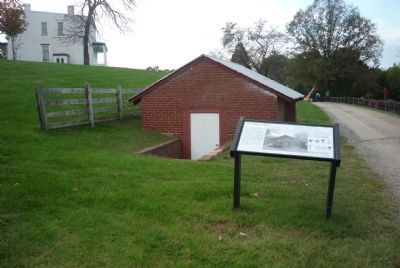 Oxon Hill Farm Root Cellar and Marker image. Click for full size.