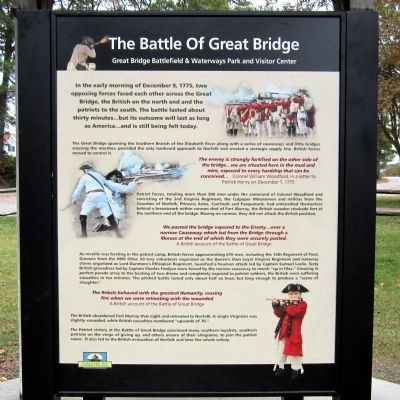 The Battle of Great Bridge Marker image. Click for full size.
