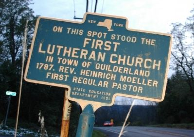 First Lutheran Church Marker image. Click for full size.