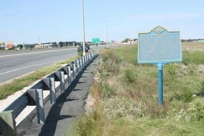 Site of Jacobs School #143 Marker, looking west along Route 404 image. Click for full size.