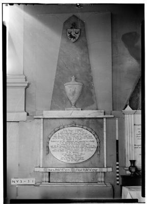 James Duane Plaque<br> in the<br>Christ Episcopal Church image. Click for full size.