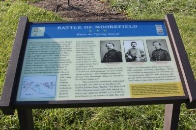Battle of Moorefield Marker image. Click for full size.